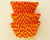 Orange and Yellow Chevron ZigZag Cupcake Liners Standard Size 50 per pack