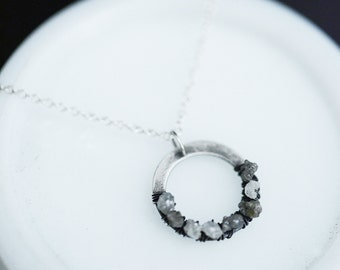 Diamond in the rough...rough diamond necklace in sterling silver