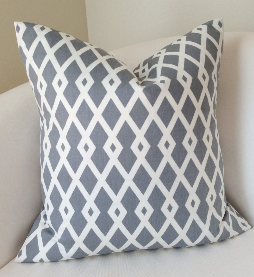 Gray Pillow Decorative Throw Pillow Cover Couch Cushion Accent