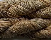 Hand dyed yarn, Bamboo Tape Ribbon - Gold Tonal - robinjedmundson