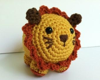 Amigurumi Crochet Lion Plush Toy Kawaii Plush Lion Nursery Decor Lion Plushie Doll Baby Shower Gift Safari Decor Plush Lion Stuffed Animal