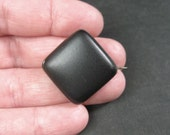 Antique Victorian Mourning Brooch Pin - Matte Black Enamel - C1880