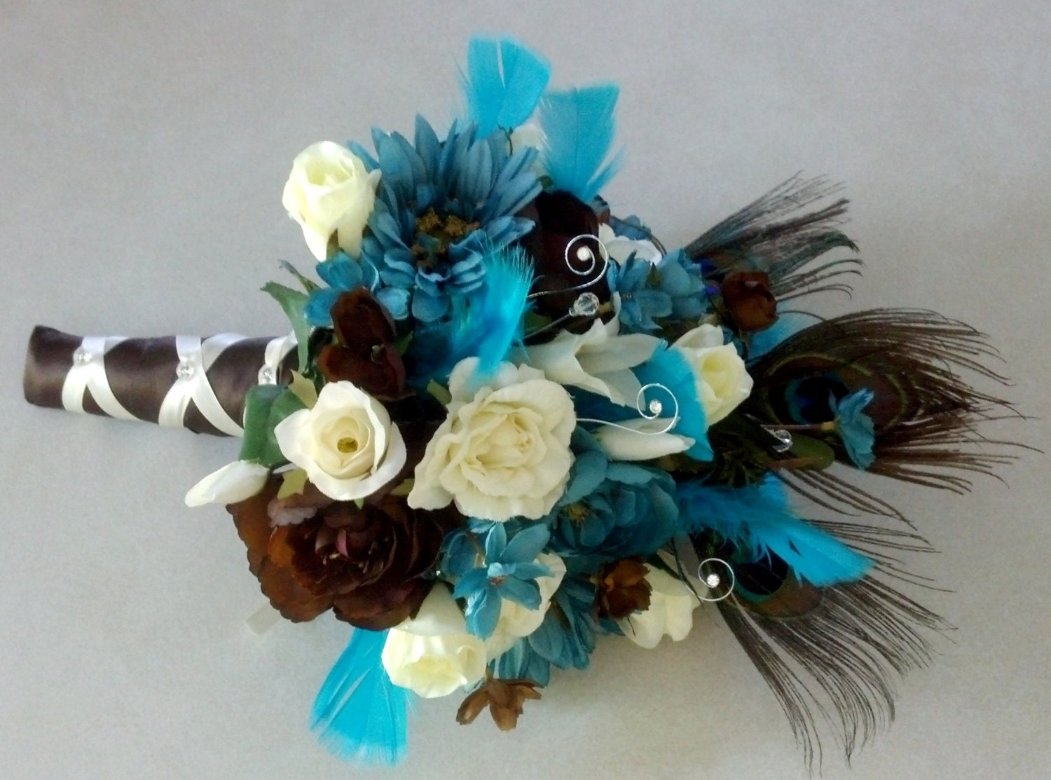 Brown And Teal Wedding Ideas: Peacock Destination Wedding Flowers Turquoise Teal Blue Brown