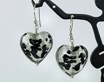 Animal Print Earrings - Leopard Print Earrings - Venetian Glass Earrings
