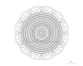 Mandala to Color: Tut - 11x8.5 - PDF VERSION