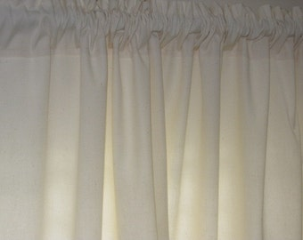 Off White Cotton Twill Curtain Panel 84 long...a total of 3 are available