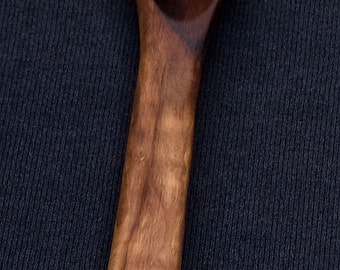 Hand carved red pear wood spoon