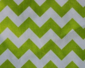 Riley Blake Medium Chevrons Lime