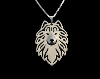 Samoyed necklace - sterling silver