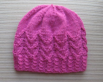 Knitting Pattern #136 Hat in Petals Stitch in Size Adult