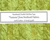 Handmade BIAS Tape - Green Veining TEXTURES  From Northcott - 6 Yards