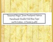 Double Fold Bias Tape  - Seasonal Magic in Yellow