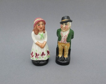 40s Country Couple Salt and Pepper Shakers England Unique Wedding Cake Topper