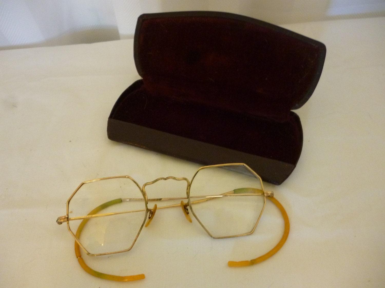 Gold Filled Eyeglass Frames : SALE Vintage ARTCRAFT 12K Gold Filled Eyeglass Frames 1930s