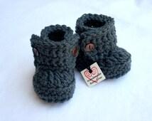 Baby Booties, Baby Boots, Baby Ugg Boots, Crochet Baby Booties