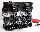 Ruffle Purse Bag Made to Order Design Your Bag in fabrics of your choice