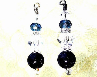 Jewelry - Blue Goldstone Earrings - Free Shipping