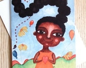 African American/Afro Caribbean Greeting Card - 'I Love My Hair!'