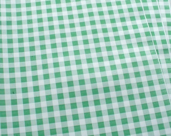 "Green Gingham Food Safe Wrapping Paper 100 sheets 10"" x 15"""