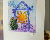 "Welcome Home ""Big Card"" 5x7 Watercolor Original betrueoriginals"