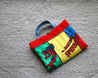 Crayon Artist Tote for kids featuring Spiderman