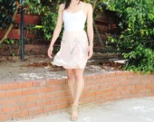 FRENCH Silk Ballerina skirt with silver sequins ( Sz S )