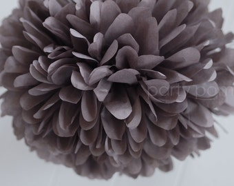 Charcoal Tissue Paper Pom .. Wedding Decor / Bridal Shower / Baby Shower / Party Decoration