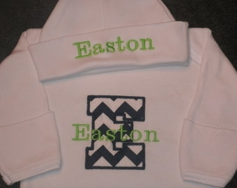 Custom Boutique Infant Gown Personalized Initial MONOGRAM Ciomming Home Layette