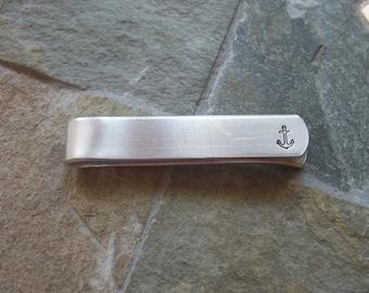 Anchor Aluminum Tie Bar / Tie Clip - Wedding Party - Groomsman Gift - Nautical Themed Wedding