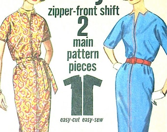 Vintage 1960s Simplicity 4843  Misses' Jiffy Dress Sewing Pattern  Bust 32
