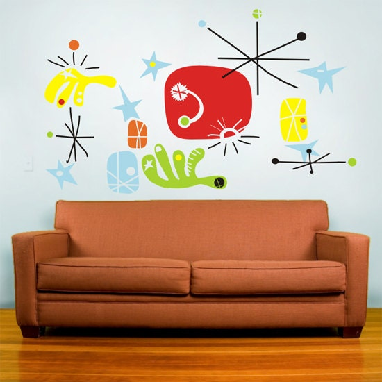 Miro wall decal mural art make your own miro joan miro mid for Design your own mural