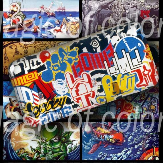 Grafitti - 40  2x1 Inch  JPG images - Digital  Collage Sheet