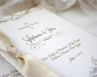 Gorgeous Booklet Wedding Program