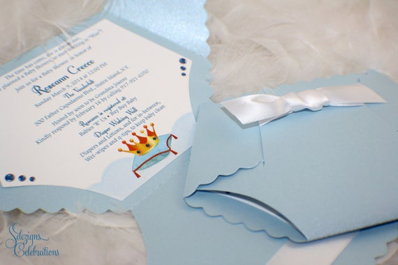 Diaper baby shower invitation or baby announcement little prince il570xn filmwisefo Images