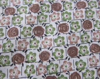 Vintage cotton fabric, 1930s cotton, vintage dressmaking  quilting cotton, 30s fashion,  30s dress fabric