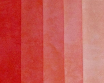 Hand Dyed Fabric -Red -  Color Wheel Basics Shades