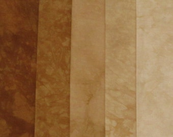 Hand Dyed Fabric - Sepia -  Shades