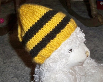 Baby Hat in Hufflepuff Colors