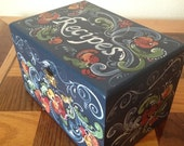 Norwegian Rosemaled Recipe Box