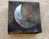 Silver Moon Steel Light Sconce for Indoors or Covered Outdoors