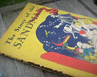 "Vintage book, ""The Story of the Sandman"" by Caroline Mallon, 1945 storybook, collectible child book, rare, retro"