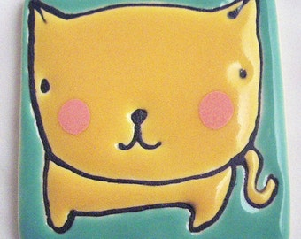 2.5 Square Yellow Cat No.12