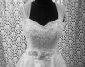 Detachable Cap Sleeves for Wedding Dresses in Ruched Tulle