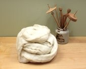 Superwash Merino Roving (Combed Top) - Undyed Fiber for Spinning (8oz)