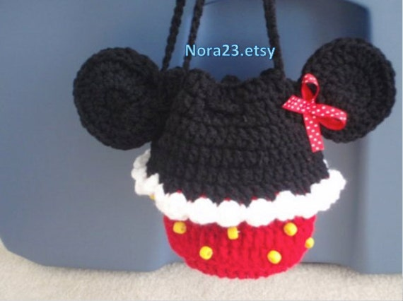 crochet minnie mouse purse PATTERN INSTRUCTIONS. easy