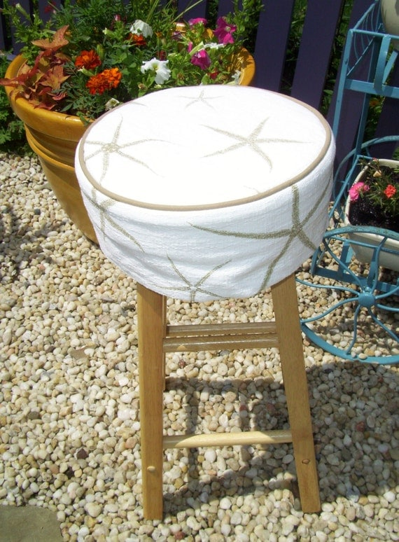Starfish Barstool Slipcover with Cushion Bar by  : il570xN479058905c54d from www.etsy.com size 570 x 775 jpeg 158kB