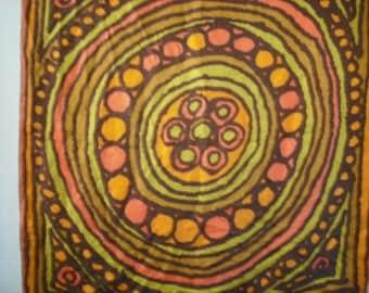 Vera Silk Ladybug Scarf 1970 1960