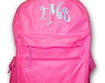 Monogrammed Book Bag