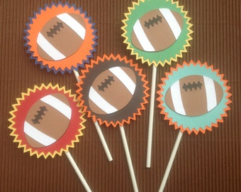 Football Cupcake Toppers - Pkg of 12