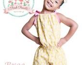 "Pillowcase Romper Pattern, Girls Romper Sewing Pattern, Easy PDF Sewing Patterns, Girls, Children, Toddler, Baby, Size 3m-8 ""Bree Romper"""